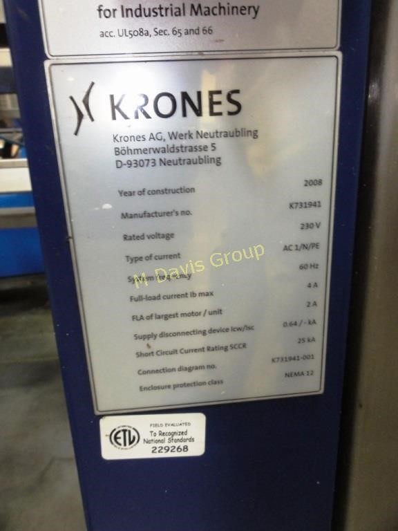 Krones Checkmat 731 Label, Cap, Filler Inspection | HiBid