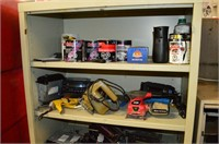 Steel Shelf with Contents - Car Stereo, Speakers