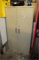 2 Door Steel Cabinet with Contents