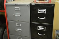 (2) 4 Drawer Steel Filing Cabinets with Contents
