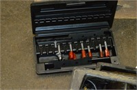 (2) Black and Decker Router, Router Table, Bits