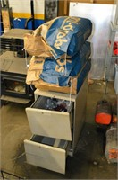 (3) Bags of Sandblasting Material and File Cabinet