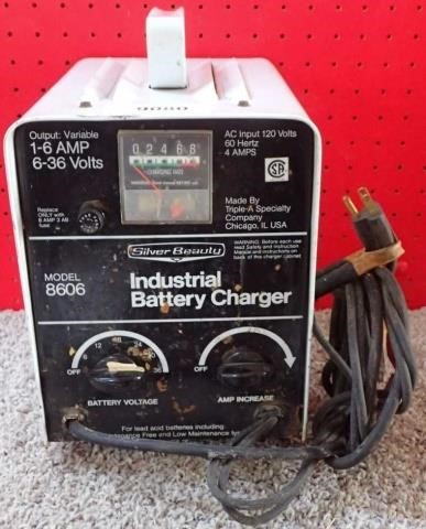Silver Beauty Industrial Battery Charger, | United Country Musick & on
