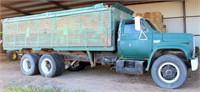 1975 GMC 6500 Farm Truck, V8 gas eng, Fuller Roadranger trans, rear & side hoist, w/drill fill auger (view 1)