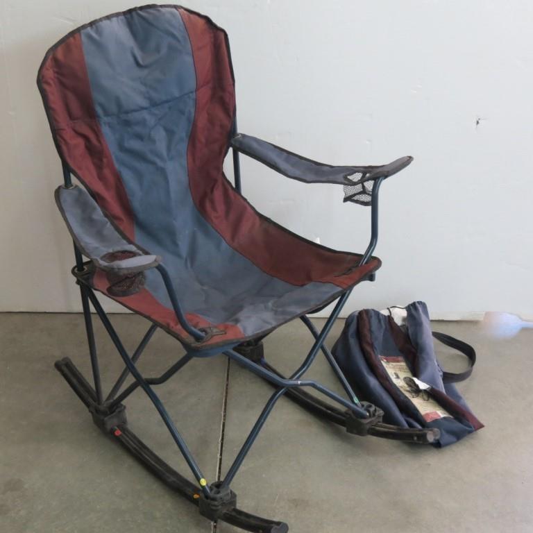 Prime Ozark Trail Deluxe Folding Arm Chair W Rockers Idaho Inzonedesignstudio Interior Chair Design Inzonedesignstudiocom