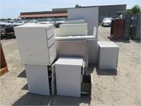 Lot of Assorted File Cabinets & Desk