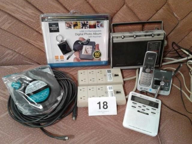 DIGITAL PHOTO ALBUM, TV ANTENNA WIRE, COAX CABLE, | auctions by