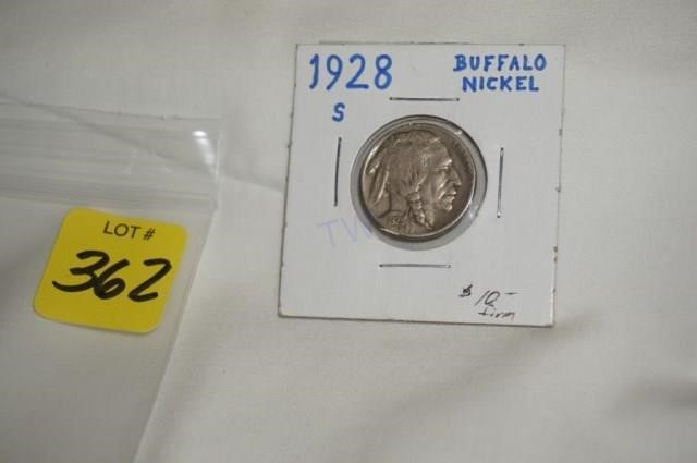 Buffalo Nickel, 1928-S,Exc date and details | Tommy Wagner