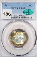 25C 1942 PCGS PR68 CAC