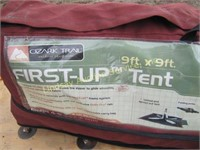 Ozark Trail First-Up Tent 9'x9' Sleeps 4-5  | Lindsay