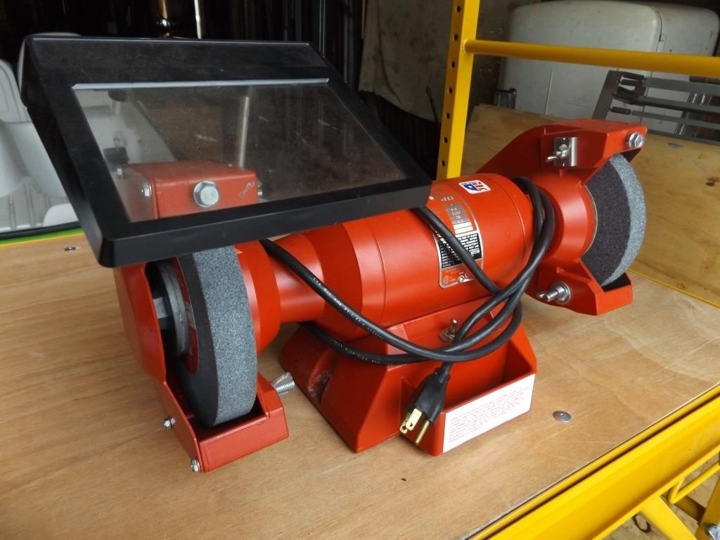 Remarkable Milwaukee 7 Bench Grinder Like New Superior Auction Squirreltailoven Fun Painted Chair Ideas Images Squirreltailovenorg