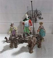 Elephants And Figurines