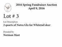 Whitetail Deer Farmers of Ohio 2016 Spring Fundraiser