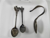 TRAY: STERLING BABY & TEA SPOONS