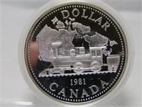 1981 CANADIAN CASED SILVER DOLLAR