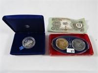 TRAY: ASST. TOKEN & FOREIGN COINS