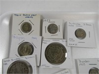 TRAY: BRITISH, AUSTRALIAN & OTHER SILVER COINS