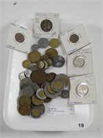 TRAY: MEXICAN COINS