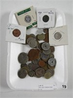TRAY: ASST. FOREIGN COINS