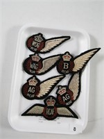TRAY: 6 ASST. RCAF PATCHES