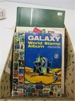 BOX: ASST. STAMP ALBUMS