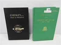 BRUCE COUNTY & CHESLEY HISTORY BOOKS