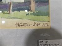 R. WHITMORE RAF 1944 CORNER STORE W/C PAINTING