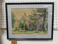 R. WHITMORE 44 COUNTRY HOME W/C PAINTING