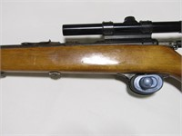 CAN'T READ MAKER 22 CAL BOLT ACTION RIFLE W/SCOPE