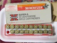 APPROX. 19 WINCHESTER SUPER X 3030 CARTRIDGES