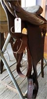 Hereford Western Saddle w/ Stand