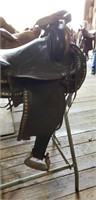Western Saddle w/ Stand - Stirrup Needs Repair