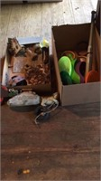 2 Boxes- Out Door Decorations, Toys