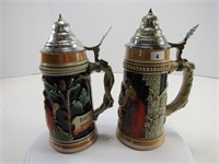 "TRAY: 9.25"" & 9"" GERMANY STEINS"
