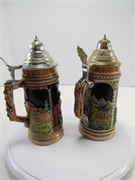 """TRAY: TWO 8.75"""" GERMANY STEINS"""
