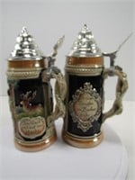 "TRAY: TWO 9"" GERMANY STEINS"