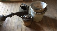 Pails, Water Can, Oil Can