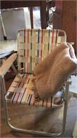 Lawn Chair, Blanket, Laundry Holder, Etc