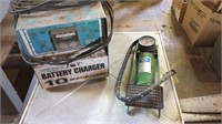 Battery Charger, Foot Pump