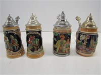 TRAY: 4 SMALLER GERMANY STEINS