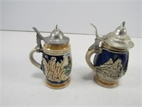 TRAY: 6 SMALL STEINS