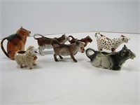 TRAY: ASST. FIGURAL CREAMERS