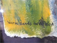 """SEAN GRAY """"WARM SANDS IN AFRICA"""" PAINTING"""