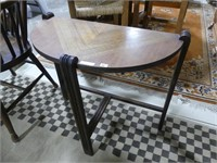 ANTIQUE MAHOGANY MARQUETRY TOP END TABLE