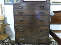 ANTIQUE BUTTERFLIED 5 DRAWER CHEST