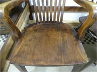 ANTIQUE ARMED OFFICE CHAIR
