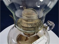 PRESSED GLASS FINGER OIL LAMP