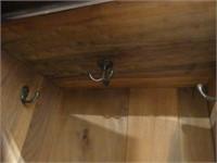 ANTIQUE MAHOGANY 2 DOOR WARDROBE W/BOTTOM DRAWER