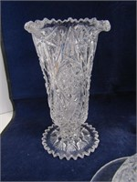 "13"" CRYSTAL TRAY W/CONTENTS"