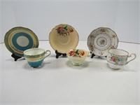 PARAGON, AYNSLEY & ROYAL ALBERT CUPS & SAUCERS